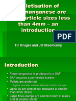 01 Pelletisation of Ferromanganese Ore With Particle Sizes Less Than 4mm - An Introduction
