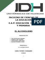 El Alcoholismo (UNIVERSIDAD DE HUÁNUCO)
