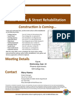 Fort Worth Water Utility & Street Rehab Map