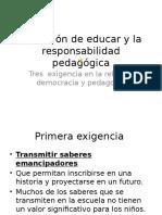 Estela Ramirez La Opción de Educar y La Responsabilidad Pedagógica