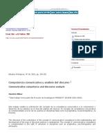 Competencia Comunicativa y Análisis Del Discurso - Mauricio Pilleux