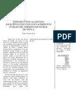 99686359 Introduccion Al Estudio Paleontologico de Los Yacimientos Fosiles Del Termino Municipal de Yecla