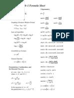 30-1 Formula Sheet