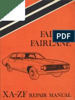 FORD Falcon XA repair manual