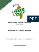 Apuntes de Sistema Financiero Mexicano.