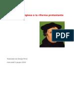 La crisi religiosa e la riforma protestante