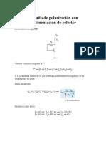 Circuito de Polarización Con Realimentación de Colector