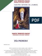 Novena a Nuestra Senora de Lourdes