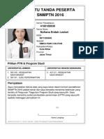 Kartu Pendaftaran SNMPTN 2016 4160189636
