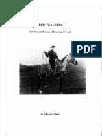 Bud Walters - Cowboy and Pioneer
