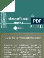 La Microzonificación sismica