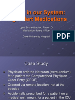 Eschenbacher High Alert Medication Presentation October 2007