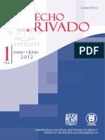 Revista de Derecho Privado. Cuarta Época. Número 1