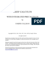 Brief Calculus With Integrated Precalculus by Joseph Collison