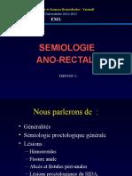 Semiologie Ano Rectale