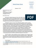 Warren FBI letter