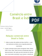 Comércio Entre Brasil e Índia