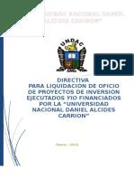 Directiva de Liquidaciones 2014