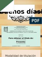 PRESENTACION PARA TITULACION 4 GRADO