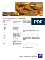 Beef Kurma Ala NamNam Tomato Recipe