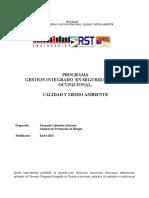 Programa de Calidad y Medio Ambiente