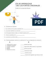 Guía de Aprendizaje Puntos Cardinales