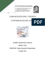 Contaminacion Del Agua Informe