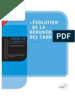 La Rémunération Des Cadres- Edition 2016