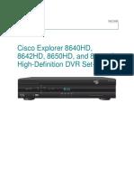 Decodificador Cisco Explorer 8642HD de Intercable Manual Del Usuario