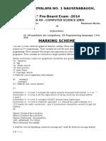 1045074899xii Cs Preboard1 Marking Scheme