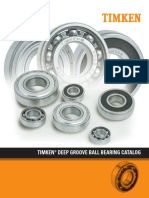 Timken Deep Groove Ball Bearing Catalog 10857
