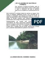 Leyenda de La Laguna de Salitrillo