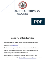 Use of Bacterial Toxins as Vaccines
