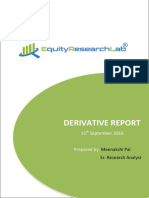 stock future tips | derivative report outlook  15 september 2016.