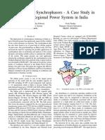 ApplicationofSynchrophasors PrekshaDalawai&VivekPandey NRLDC
