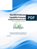 The OHS Professional  Capability Framework