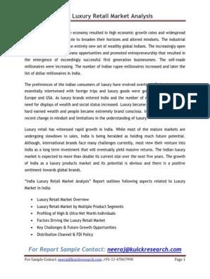 India Luxury Retail Market Analysis | Luxury Goods | Market