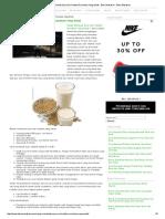 ResepH Membuat Susu Sari Kedelai Rumahan Yang Sehat - Buku Masakan - Buku Masakan