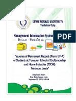 Seminar - Workshop Documentation