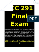 ACC 291 Final Exam | ACC 291 Week 5 Final Exam - UOP E Tutors