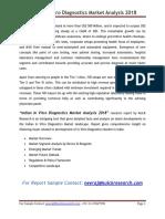 Indian in Vitro Diagnostics Market Analysis 2018