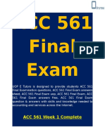 ACC 561 Final Exam - Accounting 561 Final Exam | UOP E Tutors