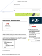 Photovoltaic (PV) - Electrical Calculations