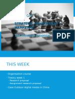 Week 1 Strategic Management - Marketing 2016-2017