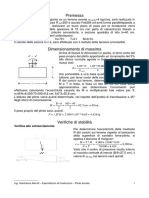 Predimensionamento Cordolo Fondazione