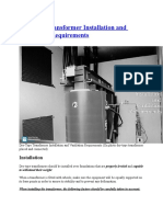 Dry-Type Transformer Installation and Ventilation Requirements