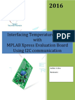 Interfacing Temperature sensor with MPLAB Xpress Evaluation Board  using I2C communication