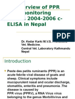 An overview of PPR Sero-monitoring results 2004-2006 c-ELISA in Nepal