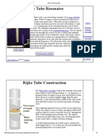 Rijke Tube Resonator