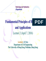 2016-04-07 Fundamental Principles of Hydrology & Applications